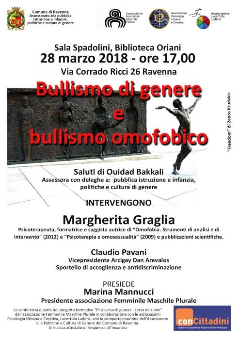 Evento Bullismo Omofobico e di Genere